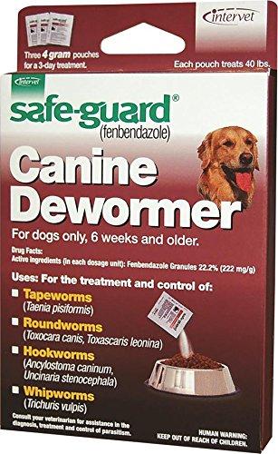 Merck 001-040694 Safeguard Canine Dewormer For  Dog, 40 lb (3 Pack)