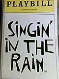 Playbill Singin' In The Rain Gershwin Theatre
