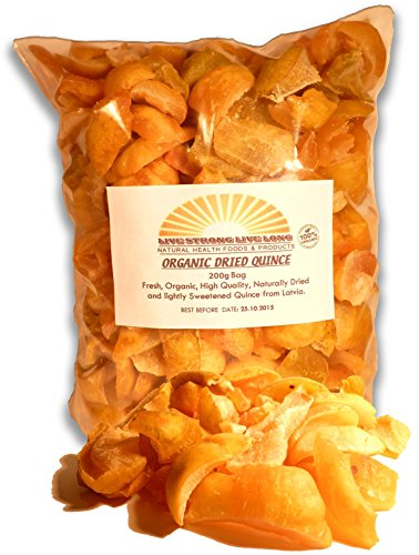 100% Organic Dried Quince 200g Bag - 7oz