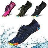 KRIMUS Men Women Water Shoes Quick Dry Barefoot Aqua Socks Swim Shoes for Pool Beach Walking Running (Deep Blue-39)