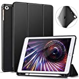 Ztotop Case for iPad 9.7 Inch 2018/2017 Case with Pencil Holder - Lightweight Soft TPU Back Cover with Auto Sleep/Wake, Protective for iPad 6/5th Generation,Black