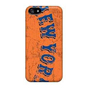 Protective Hard Phone Cases For Iphone 5/5s With Custom Vivid New York Mets Image DannyLCHEUNG