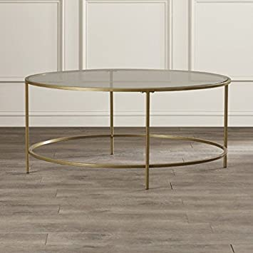 16 5 Quot H Alsager Round Coffee Table Gold