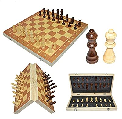 WTGJQQPP Chess 2018 39cm X 39cm Classic Wooden Board Game Machine Foldable Magnetic Folding Board Packaging Wooden Board, Birthday Gift