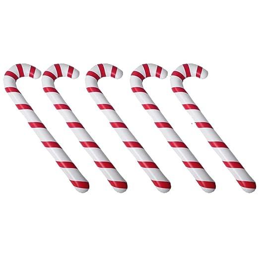 Toyvian 5 Piezas de Navidad Inflable bastón de Caramelo Globo de ...