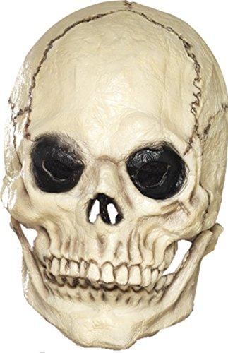 Adult Mens Fancy Party Foam Latex Full Overhead Skull Mask White