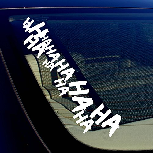 2x Joker Hahaha Serious Super Bad Evil Body Windshield Car Sticker Decal 16