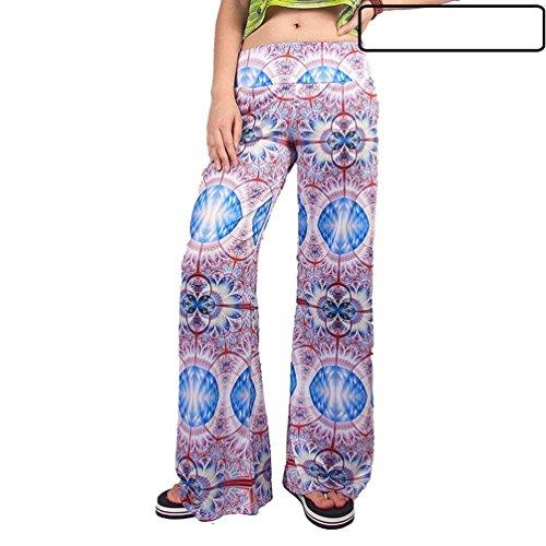 Nahen Tempo Stampato 10 Taille Pantaloni Colpo Pantalone Primaverile Donna Larghi Pantaloni Moda Libero Costume Eleganti Pantaloni Vintage Autunno Colour Femminile wOvqw4