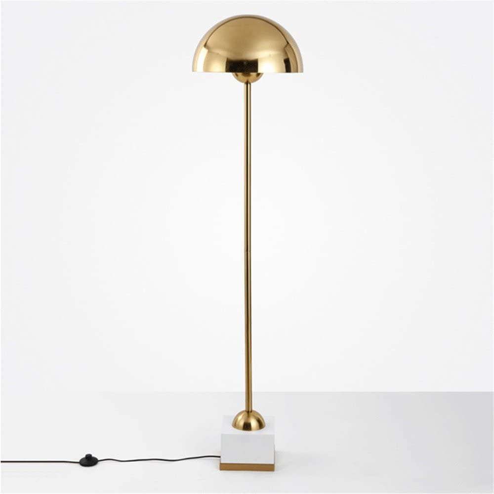 Joeyhome European Creative Gold Metal Hat Floor Lamp Designer Project Customized Led Light Villa Club Standing Lamps White Marble Base Cool White Amazon Co Uk Lighting