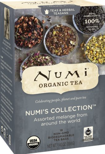 Numi Organic Tea Variety Pack - Numi's Collection - Assorted Full Leaf Tea and Teasan Teabags, 18-Count non-GMO Tea Bags (Pack of 6) (Heroes Of Order And Chaos All Heroes)