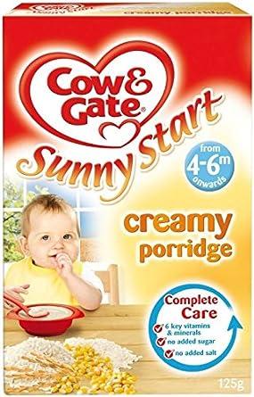 Cow & Gate Ensoleillé Démarrer crémeux Porridge 4mois + (125g) - Paquet de 6