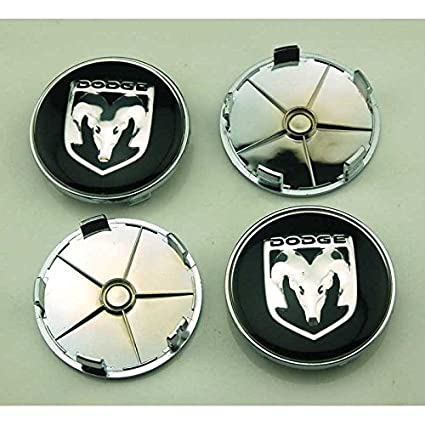 4pcs W063 68mm Car Styling Accessories Emblem Badge Sticker Wheel Hub Caps Centre Cover DODGE Ram