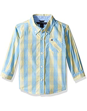Tommy Hilfiger Baby Boys' Playa Yarn Dyed End On End Shirt
