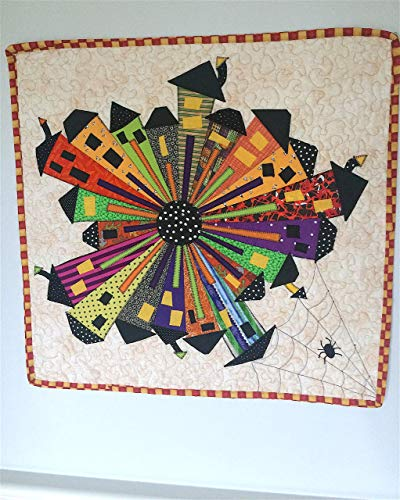 Halloween Wall Hanging Quilt Spooky Wonky Houses