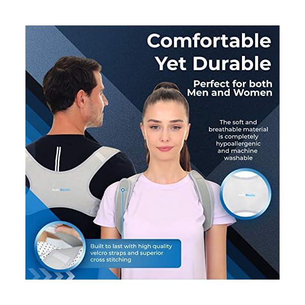 ActivHawks Correcteur de Posture Dos pour Homme & Femme – Ceinture Dorsale Lavable et Ajustable – Redresse Dos Idéal…