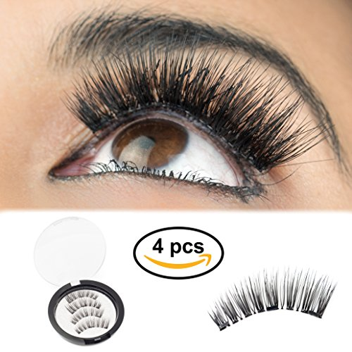 Premium Magnetic Eyelashes By GoRu Product[No Glue] | Full Eye False Lashes With Triple Magnet For 100% Natural Look | Easy To Apply, Flexible, Reusable, Comfortable & Secure | Tweezers Included by GoRu Product