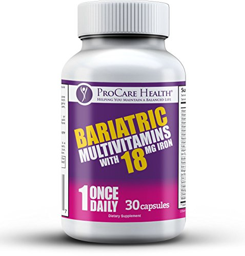 ProCare Health Bariatric MultiVitamin w/18mg Iron- 30ct Capsule Once Daily