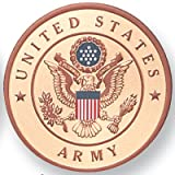 Unites States Army 4 Inch Medallion, Pack of 4