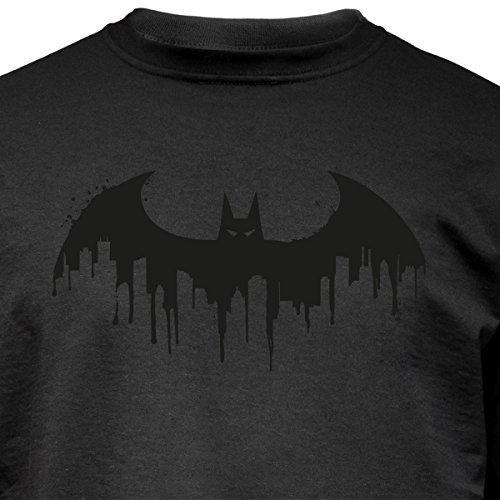 """Nukular Langarm T-Shirt """"Batman Skyline"""" für alle Fans der Fledemaus..."""