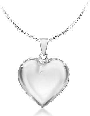 46 cm Tuscany Silver Cadena con colgante de plata