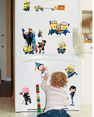 Fange DIY Removable Minions Despicable Me 2 Art Mural Vinyl Waterproof Wall Stickers Kids Room Decor Nursery Decal Sticker Wallpaper - Minion Diy