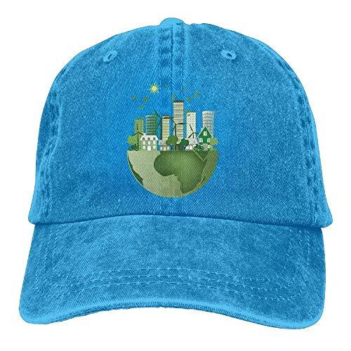Men Cap City Hats Skull Women Sport for Cowboy Green Denim Hat Cowgirl 1Igvxv