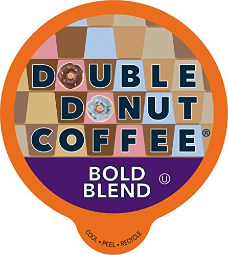 Double Donut Bold Blend Coffee, in Recyclable Single Serve Cups for Keurig K-Cup Brewers, 24 Count