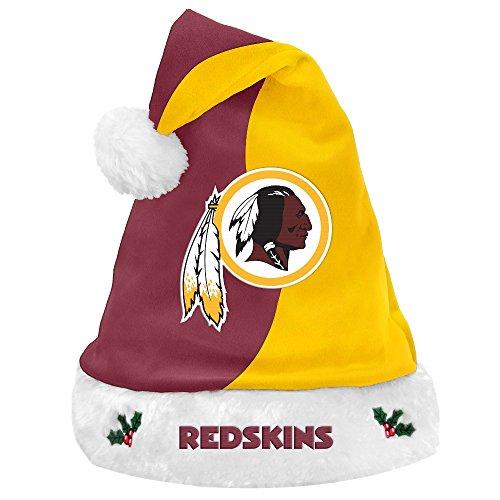 - Washington Redskins 2017 NFL Basic Logo Plush Christmas Santa Hat