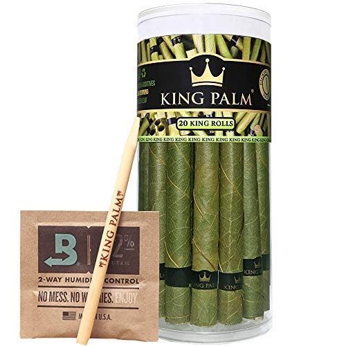 Making Filter Cigarette Machine (King Palm King Size Palm Leafs | 20 Pack | Natural Slow Burning Pre-Rolled Leaf With Packing Stick and Humidifying Pack)