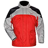 Tour Master Sentinel Men's Jackets Sports Bike Racing Motorcycle Rain Suit - Red / Small