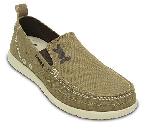 Crocs Heren Heren Walu Mickey Slip-on Kaki / Stucwerk