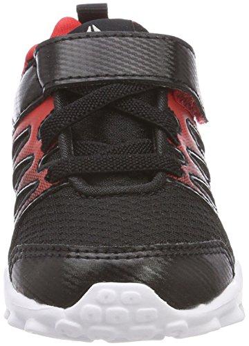 Reebok Realflex Train 4.0 Alt, Zapatillas de Deporte Unisex Niños Negro (Black/Primal Red/White 000)