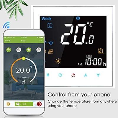 Termostato inteligente para caldera de gas y agua, termostato WiFi ...
