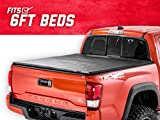 Rough Country Soft Tri-Fold (fits) 2016-2019 Tacoma 6 FT Bed Truck Tonneau Cover 44716601 Soft Folding