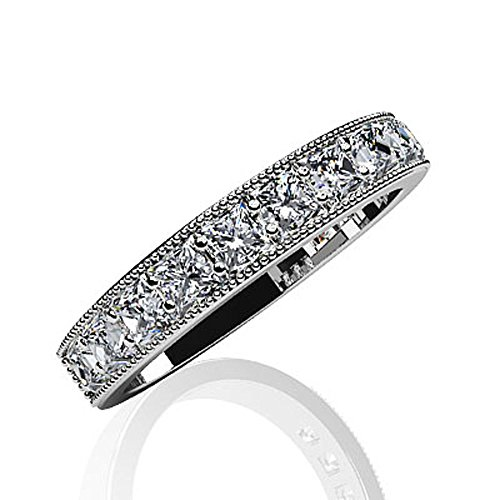 14 K Or blanc vintage Beauté Coupe Princesse en diamant