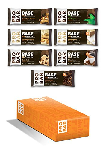 Probar Variety Pack, Base Protein, Non GMO, Gluten Free, Plant Based Energy, 7 Count