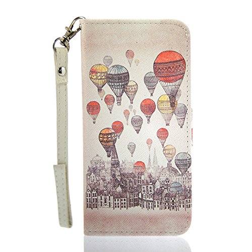 INASK PU Leather Cover case castle for iPhone 6 4.7inch with free Film/ hand strap