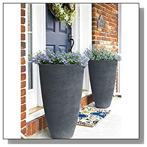 Tall Planters Set 2 Flower Pots, 20