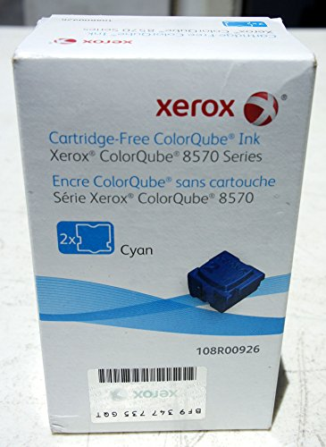 Genuine Xerox 108R00926 ColorQube Cyan Solid Ink Sticks for Phaser 8570 8580