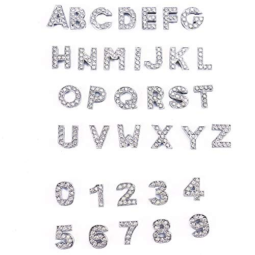 - Monrocco 36Pcs Crystal Rhinestone Slider Charms Alloy Alphabet A-Z Alphabet Letters for DIY Craft Bracelet Wristbands Necklace Choker Jewelry Making Finding