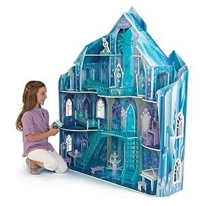 KidKraft Disney - Casa de muñecas con 19 piezas de mobiliario, diseño de Frozen