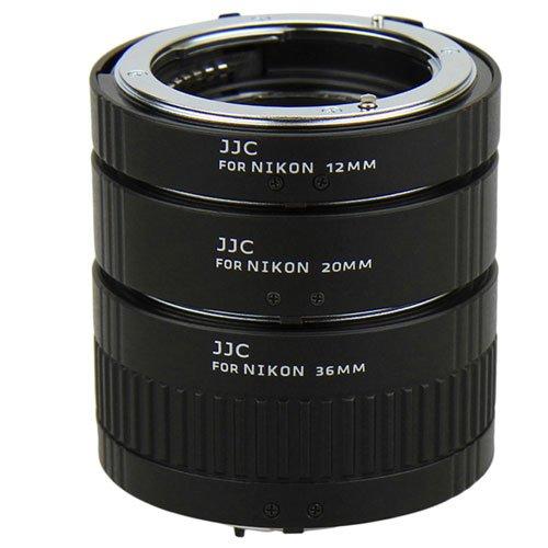 JJC AET-NS Automatic Extension Tube for Nikon F mount 12mm 20mm 36mm For D5300 D7200 D5500 D810 D800 D610 D600 D90 D80 by JJC