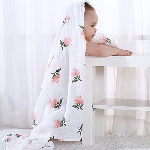 Lifetree Muslin Swaddle Blankets For Girls Quot Floral Print