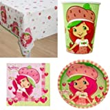 Strawberry Shortcake Party Supplies for 16 guests by MyMasterpeaces