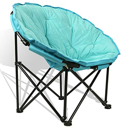 Extra Comfort Folding Moon Chair Saucer With Suede Pad For Any Living Room, Dorm or Apartment Space (Chair Papa)