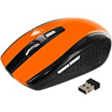 TechSpec(TM) USB 2.4G Wireless Optical Mouse - Orange