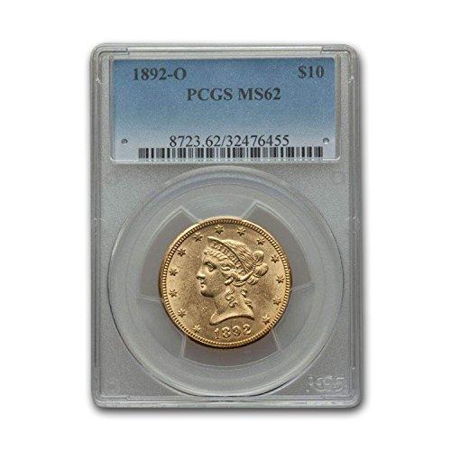 1892 O $10 Liberty Gold Eagle MS-62 PCGS G$10 MS-62 PCGS