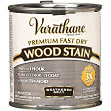 Rust-Oleum 269398 1/2 Pint Varathane Fast Dry Wood Stain, Weathered Gray