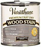 Rust-Oleum 269398 1/2 Pint Varathane Fast Dry Wood Stain, Weathered Gray