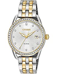 Citizen Womens Eco-Drive Two-Tone Stainless Steel Watch